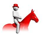 Equestrian Dressage 3D symbol
