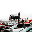 scrap yard for old cars