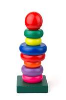 Wood toy pyramid