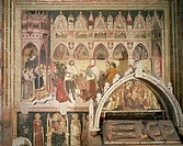 Adoration of the Virgin, ca 1370, by Altichiero (1330 - after 1393), fresco, Cavalli Chapel, Church of St Anastasia, Verona (UNESCO World Heritage Lis...