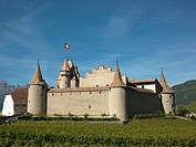 Switzerland, Canton Vaud  Aigle  The Castle of Aigle.