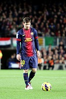 16/12/2012, NOU CAMP, BARCELONA  Leo Messi during the match in front At  de Madrid