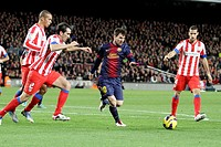 16/12/2012, NOU CAMP, BARCELONA  Leo Messi in action during the match