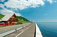 Embankment settlement Listvyanka, Lake Baikal, Irkutsk region, Siberia, Russian Federation
