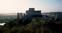 View of Chateau_Gaillard in Les Andelys, Upper Normandy, France.