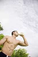 Thirsty Bare Chested Man