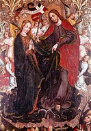 The Assumption, detail of the painting by Franciszek da Sieradaz, 1475, Church of the Bernardini, Warta, Wloclawek, Poland.