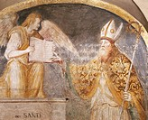 St Magnus, detail from a fresco in the Chapel of Saints Eustorgio and Magnus, Basilica of Sant'Eustorgio, Milan. Italy.