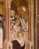 Baptism of St Augustine, scene taken from Stories of St Philip and St Augustine, by Guariento active from 1338, died 1367 or 1370, fresco, Church of t...