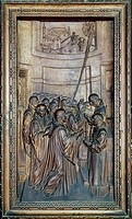 Panel from the wooden choir of the Church of St Victor Maurus, by Ambrogio Santagostino, Milan. Italy, 16th century.