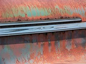 Chrome on rusty steel