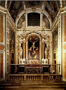 Chapel of the Crucifixion, with an altarpiece by Camillo Procaccini (1561-1629), Church of St Alexander in Zebedia, Milan. Italy, 17th century.