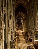 Nave of St Stephen's Cathedral (UNESCO World Heritage List, 2001), Vienna, Austria.