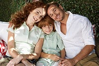 Affectionate Redheaded Family