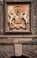 Crest, Seton Tower, Fyvie Castle, Aberdeenshire. Scotland, 16th-17th century.