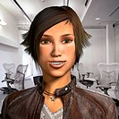 3D virtual avatar construction. 3D computer persona avatar in the likeness of a real woman. This avatar is able to copy the facial expressions of the ...