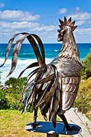 Sculpture by the Sea, annual exhibition at the Bondi - Tamarama coastal walk  'space 2004' stainless steel sculpture by Eiji Hayakawa