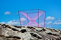 Sculpture by the Sea, annual exhibition at the Bondi - Tamarama coastal walk  'Transition' sclupture by Greer Taylor