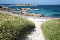 Path down to beach in Iona, Scotland