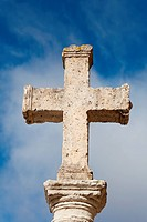 Stone cross in Carrion de los Condes, Tierra de Campos, Palencia