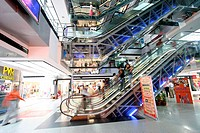 Escalator at Metropolitan (MGF) in mall ; Gurgaon ; Haryana ; India