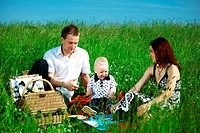 happy family picnic