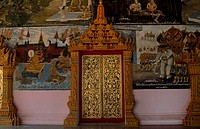 Detail of Wat Inpeng Temple in Vientiane, Laos.