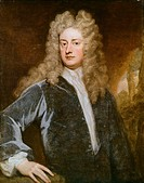 Portrait of Joseph Addison Milston, 1672 _ Kensington, 1719, British politician, writer and playwright, Oil on canvas by Godfrey Kneller 1646_1723, 17...