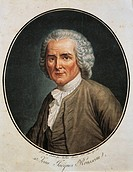 Portrait of Jean-Jacques Rousseau (Geneva, 1712-Ermenonville, 1778), Swiss writer, philosopher and musician. Engraving of 1791.  Geneva, Bibliothèque ...