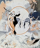 Dance scene, from the magazine La Vie Parisienne, France, 1913.  Paris, Bibliothèque Nationale De France (Library)