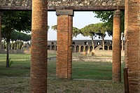 the Large Palaestra, archeological site of Pompeii, province of Naples, Campania region, southern Italy, Europe