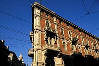 Baroque building in the street Pietro Micca, Turin, Piedmont region, Italy, Europe