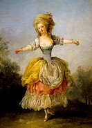 Portrait of Mademoiselle Guimard, ballerina of the Paris Opera, by Frederic Schall (1752-1825). France, 18th century.  Nantes, Musée Des Beaux-Arts De...