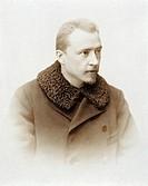 Portrait of Hugo Wolf (Windischgratz, 1860 - Vienna, 1903), Austrian composer.  Vienna, Historisches Museum Der Stadt Wien (History Museum)