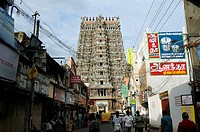 Sri Meenakshi Amman temple , Madurai , Tamil Nadu , India