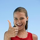Young Woman Giving Thumbs Up