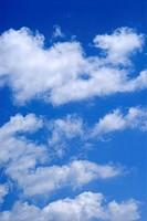 Blue sky and white clouds ; Borivali ; Mumbai Bombay ; Maharashtra ; India