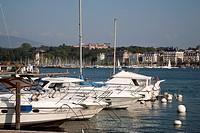 Boats and Yachts on Lake Geneva, Switzerland, Europe