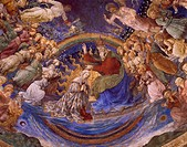 Coronation of the Virgin, detail from The Life of the Virgin cycle, 1466-1469, by Filippo Lippi (1406-1469) and his workshop, fresco. Cathedral of San...