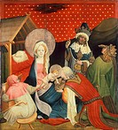 Adoration of the Magi, 1424, panel from the St Thomas Altar, by Master Francke (active ca 1424-1436), tempera on panel, 99x89 cm.  Amburgo, Hamburger ...