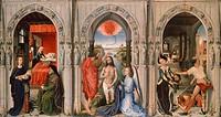 Triptych of the Baptist, by Rogier van der Weyden (1399-1464).  Berlino, Dahlem, Staatliche Museen Zu Berlin, Museum Europaischer Kulturen
