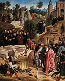 The History of Relics of St John the Baptist, outside of right wing of Altarpiece of St John, by Geertgen Tot Sint Jans ca 1460_1490, tempera on wood,...