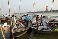 Triveni sangam ; Allahabad ; Uttar Pradesh ; India