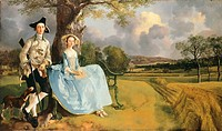 Robert Andrews and his wife, by Thomas Gainsborough (1727-1788).  London, National Gallery