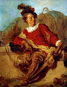 Abbott of Saint-Non, dressed in Spanish style, by Jean Honore Fragonard (1732-1806).  Barcelona, Museu D'Art Modern (Modern Art Museum)