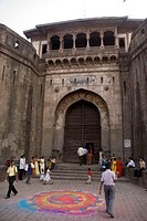 Main entrance of Shaniwarwada ; Pune ; Maharashtra ; India