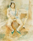 Young Woman Seated, by Jules Pascin 1885_1930, 1929