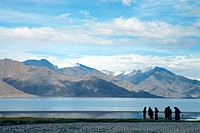 Pangong lake ; Leh ; Ladakh ; Jammu and Kashmir ; India