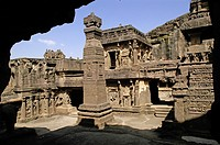 Ellora caves UNESO World Heritage site ; Aurangabad ; Maharashtra ; India