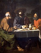 Supper at Emmaus, 1639, by Francisco de Zurbaran (1598-1664).  Mexico City, Museo De San Carlos (Art Museum)